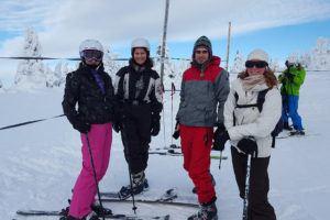 Skiing in Krkonose, January 2016