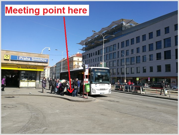 Meeting point at Smichov bus stop